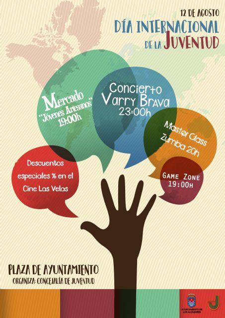 Los Alcázares celebrarán el Día Internacional de la Juventud con un concierto gratuito de Varry Brava - 1, Foto 1