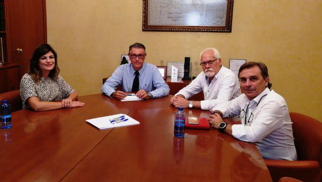 El presidente de la CHS mantiene una reunión con los alcaldes de Santomera, Fortuna y Abanilla, Foto 1