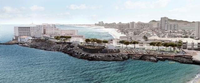 La futura plaza orientada al mar de La Manga creará un itinerario peatonal continuo y accesible para mejorar la conexión con el litoral, Foto 1