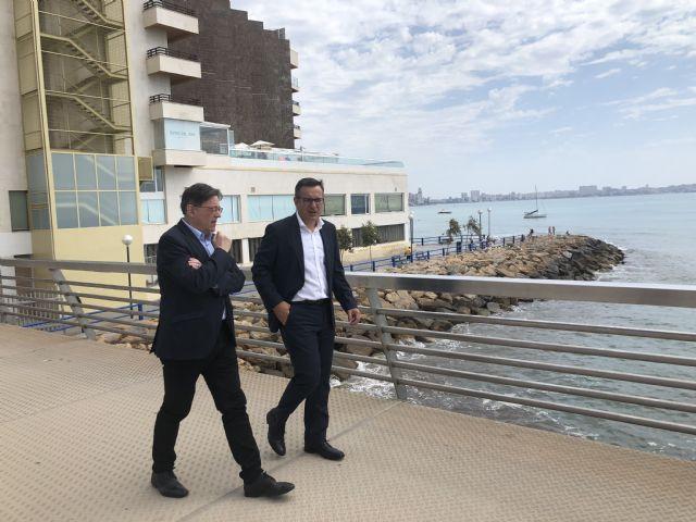 Diego Conesa y Ximo Puig se reúnen para sobre sanidad, educación, agua, infraestructuras y financiación autonómica, Foto 2