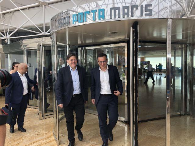 Diego Conesa y Ximo Puig se reúnen para sobre sanidad, educación, agua, infraestructuras y financiación autonómica, Foto 3