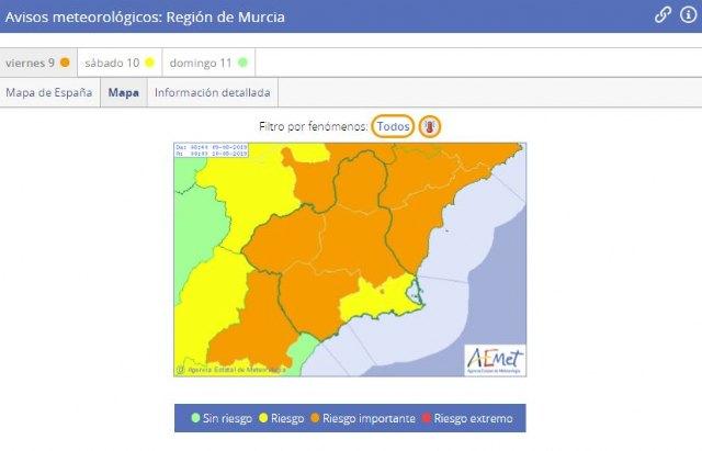 Meteorología mantiene su aviso por temperaturas que pueden llegar hoy a los 42 grados, Foto 1