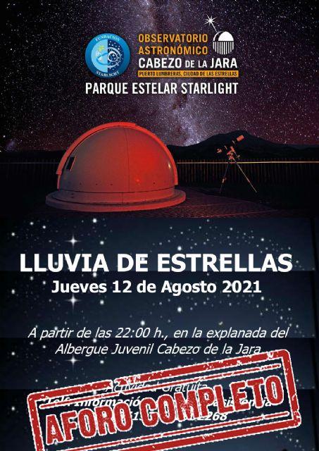 Más de 200 lumbrerenses y visitantes disfrutarán el próximo jueves de La lluvia de estrellas en el Cabezo de la Jara - 1, Foto 1