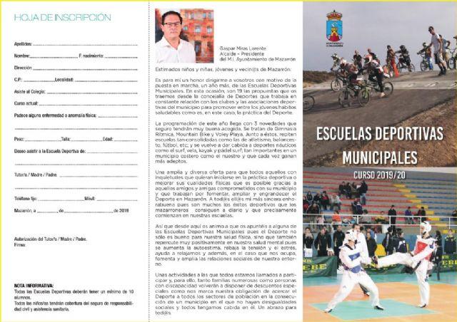 Abierto el plazo de inscripción para las escuelas deportivas municipales para este curso, Foto 2