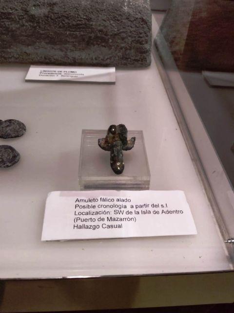 Hallado en la Bahía de Mazarrón un amuleto romano para ahuyentar el mal de ojo en forma de falo alado, Foto 4