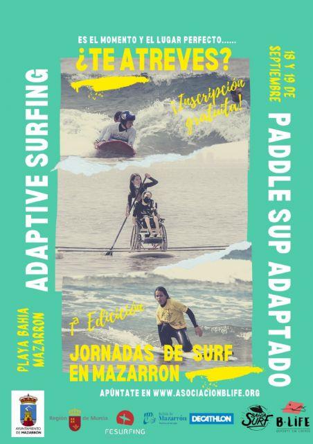 Se presentan las jornadas de surf y paddle sup adaptados que se celebrarán en la playa de Ia Reya - 1, Foto 1