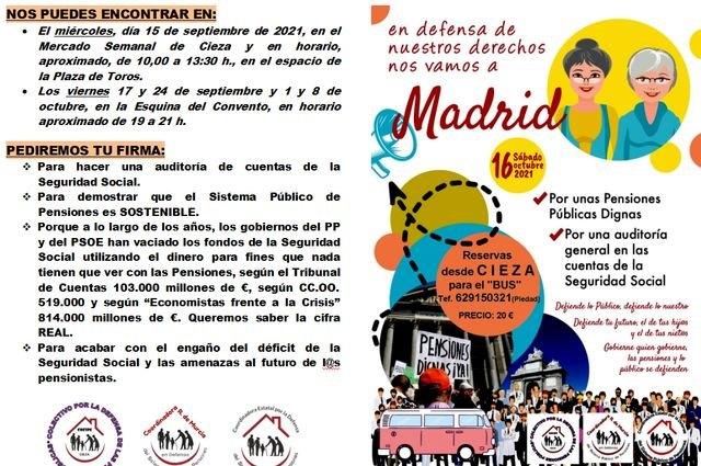 El sábado 16 de octubre todos a Madrid, en defensa de las pensiones públicas - 1, Foto 1