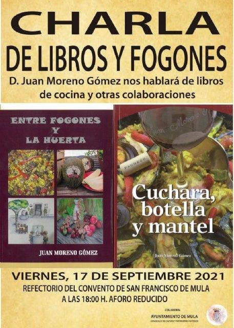 Charla: «De libros y fogones» por Juan Moreno Gómez - 1, Foto 1