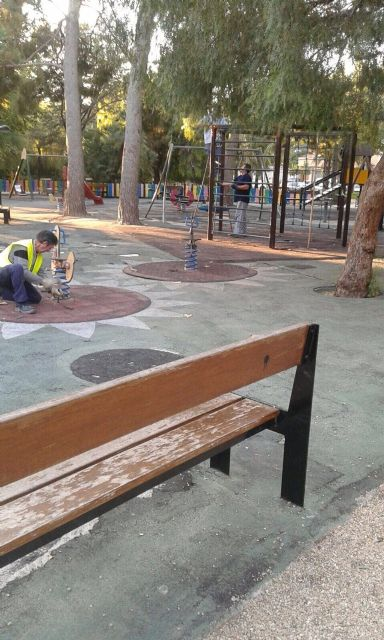 Queda cerrada desde hoy el área de juegos infantiles del parque municipal, Foto 5
