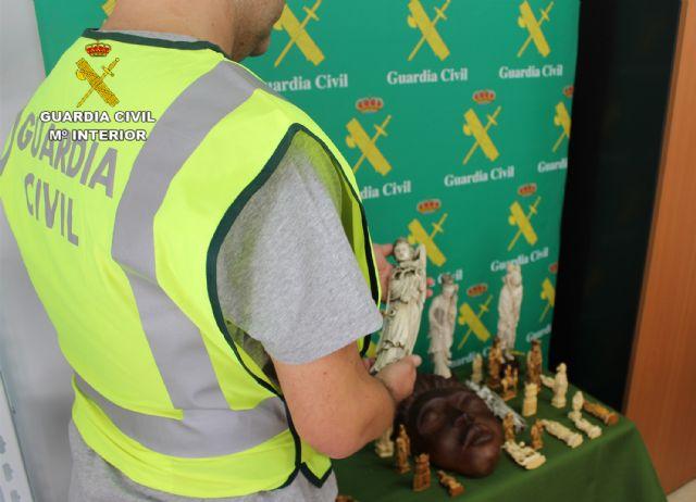 La Guardia Civil interviene varias piezas de marfil y ébano en Torre Pacheco - 2, Foto 2