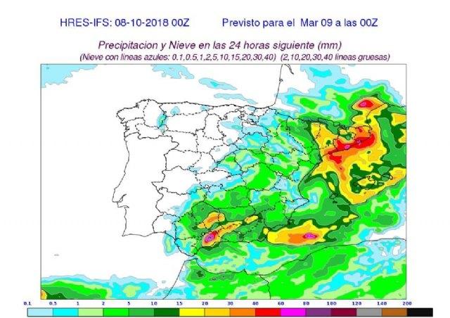 Regresan las fuertes lluvias a la Región de Murcia, Foto 1