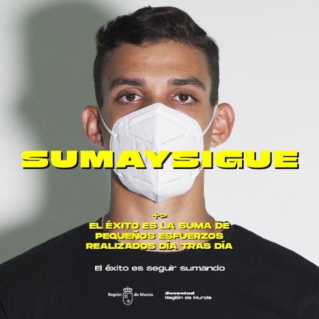 La campaña SUMA Y SIGUE, dirigida a los jóvenes, sobre los riesgos del COVID-19 y las medidas de prevención, llega a Molina de Segura el sábado 10 de octubre - 1, Foto 1