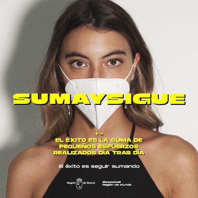 La campaña SUMA Y SIGUE, dirigida a los jóvenes, sobre los riesgos del COVID-19 y las medidas de prevención, llega a Molina de Segura el sábado 10 de octubre - 2, Foto 2