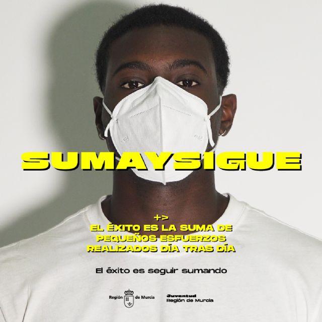 La campaña SUMA Y SIGUE, dirigida a los jóvenes, sobre los riesgos del COVID-19 y las medidas de prevención, llega a Molina de Segura el sábado 10 de octubre - 3, Foto 3