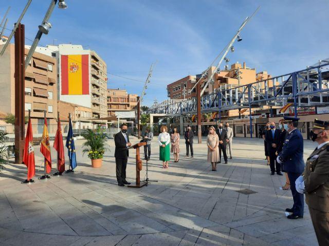 Alcantarilla rinde un sencillo homenaje a la Bandera de España - 1, Foto 1