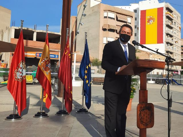 Alcantarilla rinde un sencillo homenaje a la Bandera de España - 2, Foto 2