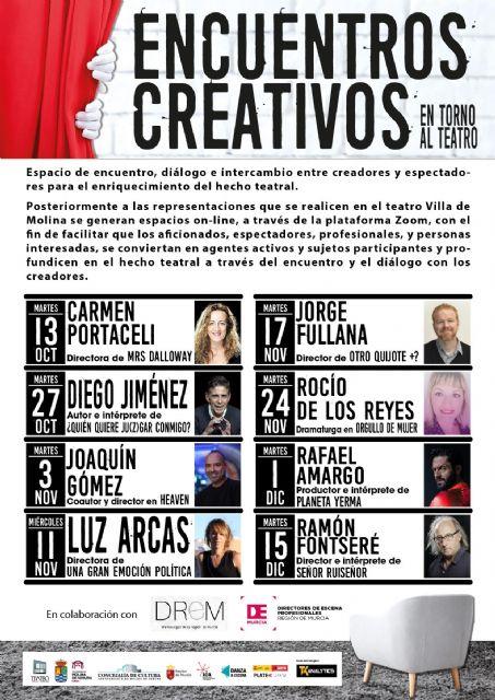 La Concejalía de Cultura de Molina de Segura pone en marcha el programa Encuentros Creativos en torno al Teatro - 1, Foto 1