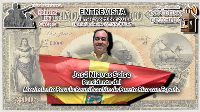 Entrevista al Presidente del Movimiento para la Reunificación de Puerto Rico con España - 1, Foto 1