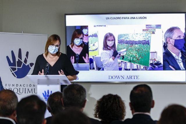 Isabel Franco inaugura la exposición Down Arte, un cuadro para una ilusión de la Fundación Lorquimur - 2, Foto 2