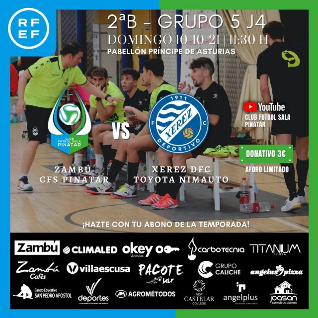 PREVIA: Zambú CFS Pinatar - Xerez DFC Toyota Nimauto: el Zambú quiere prolongar su racha obteniendo la primera victoria en casa - 1, Foto 1