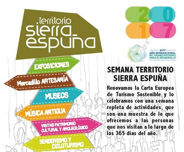A program of commemorative events is organized, from November 11 to 19, for the renewal of the European Charter for Sustainable Tourism in Sierra Espuña - 1
