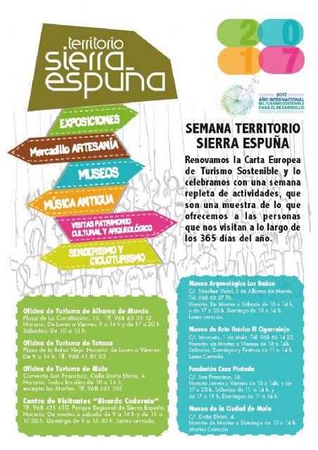 Se organiza un programa de actos conmemorativos, del 11 al 19 de noviembre, por la renovación de la Carta Europea de Turismo Sostenible en Sierra Espuña, Foto 2
