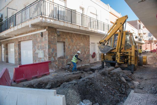Acondicionan las calles Emperador, Totana y Ana Méndez en Puerto de Mazarrón, Foto 1