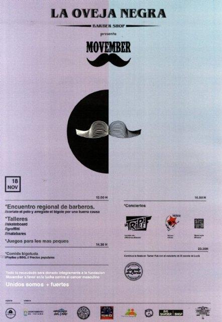 Totana acoge el próximo 18 de noviembre un Encuentro Regional de Barberos a beneficio de la Fundación Movember, Foto 2