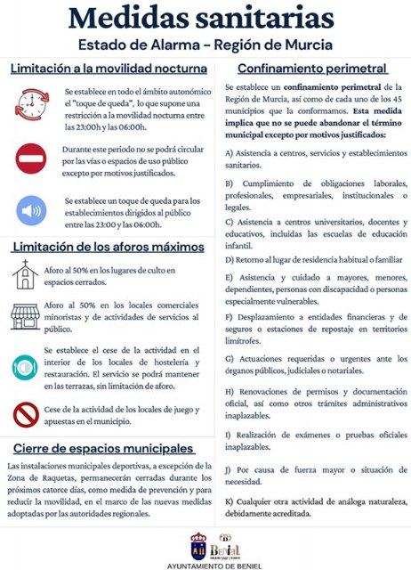 Nuevas medidas sanitarias en el marco del Estado de Alarma - 1, Foto 1