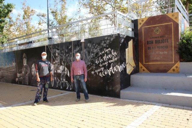 El jardín de Cervantes inaugura su mural dedicado a El Quijote - 1, Foto 1