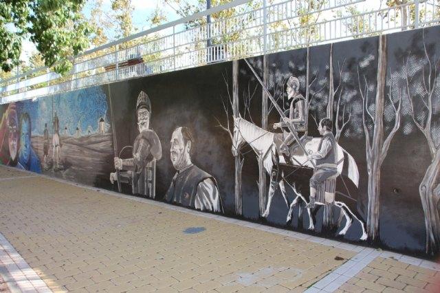 El jardín de Cervantes inaugura su mural dedicado a El Quijote - 2, Foto 2