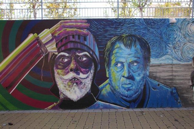El jardín de Cervantes inaugura su mural dedicado a El Quijote - 5, Foto 5