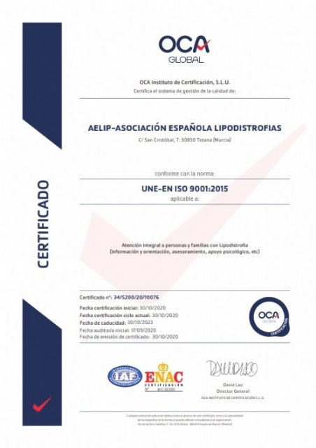 AELIP ya dispone de la certificación ISO 9001 - 2, Foto 2