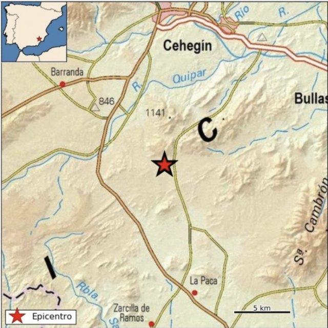 Movimiento sísmico de magnitud 3,9 y epicentro al sur de Caravaca de la Cruz - 1, Foto 1