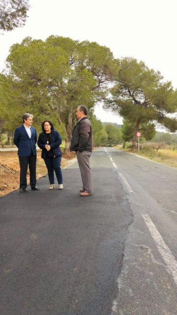 Finalizan las obras de acondicionamiento y mejora de la carretera que une Pliego y Alhama de Murcia, Foto 1