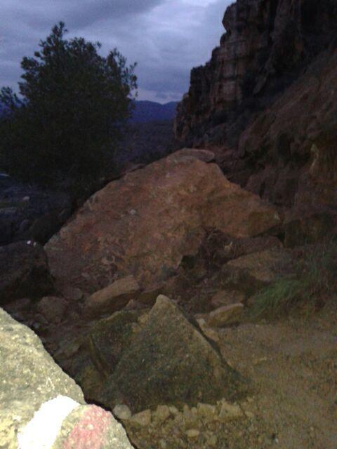 Cerrada la senda de El Cenajo a causa de los desprendimientos, Foto 4