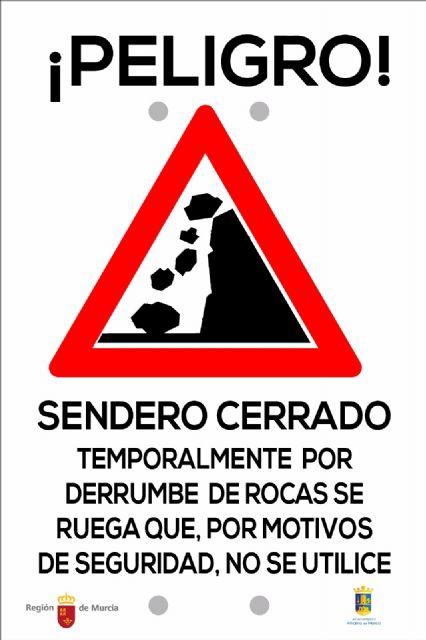 Cerrada la senda de El Cenajo a causa de los desprendimientos, Foto 5