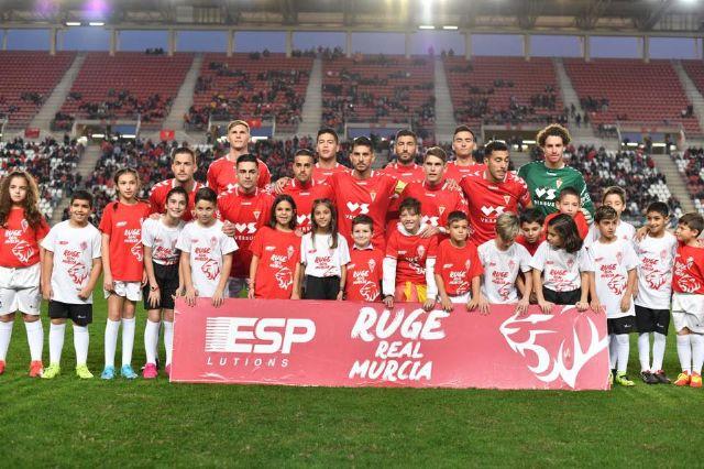 Los niños del Ceutí FC saltan al campo con los jugadores del Real Murcia gracias a La Espada - 1, Foto 1