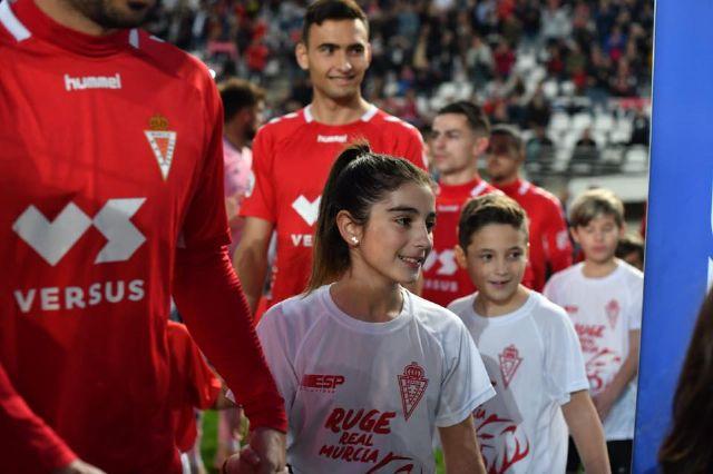 Los niños del Ceutí FC saltan al campo con los jugadores del Real Murcia gracias a La Espada - 3, Foto 3