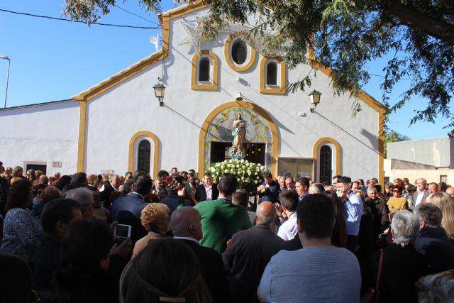 Los vecinos de El Esparragal-La Estación homenajean a su patrona con la ofrenda floral - 3, Foto 3