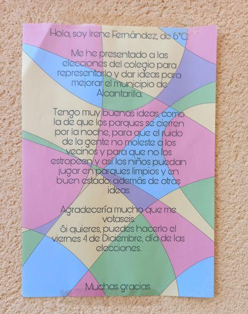 Los alumnos de Alcantarilla eligen a sus representantes en el Órgano de Participación de la Infancia y Adolescencia - 2, Foto 2