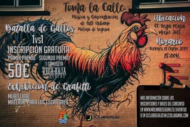 La Concejalía de Juventud de Molina de Segura organiza el evento Música y Concentración de Arte Urbano el viernes 11 de enero - 1, Foto 1