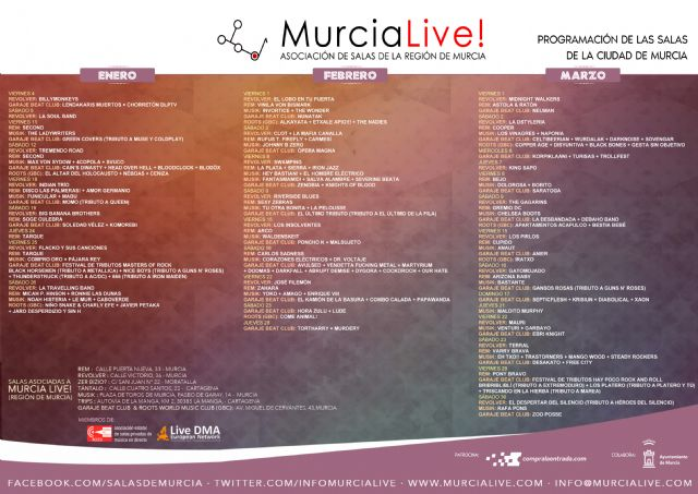 170 grupos de música actuarán en las salas de conciertos de Murcia en el primer trimestre de 2019 - 2, Foto 2