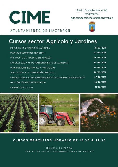 Nuevos cursos gratuitos para formar a profesionales del sector agrario y jardines, Foto 1