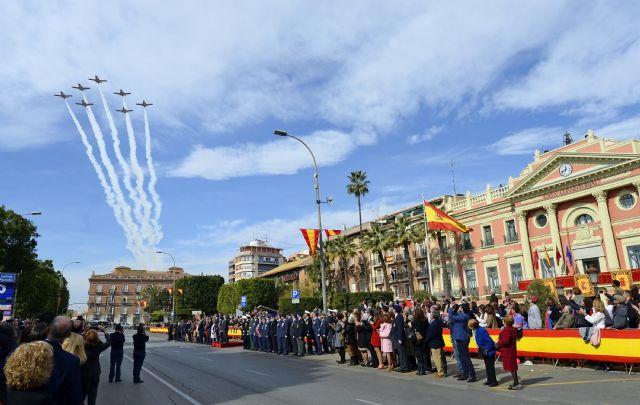 350 vecinos de Murcia demuestran su fidelidad a España en la Jura de Bandera - 3, Foto 3