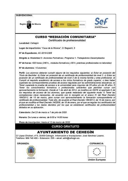 """Abiertos los plazos de inscripción para los programas formativos """"Mediación Comunitaria"""" - 1, Foto 1"""