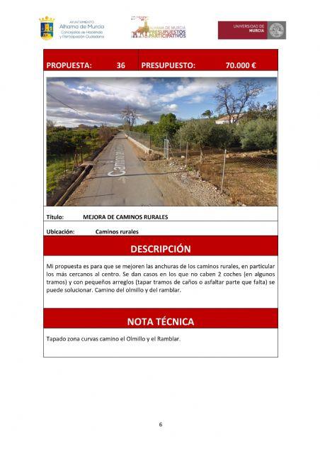 Licitadas las obras de mejora de los caminos Ramblar y Olmillo, Foto 3