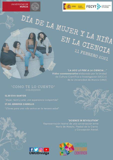 ´Como te lo cuento´, un proyecto de la UMU para celebrar el Día Internacional de la Mujer y la Niña en la Ciencia - 1, Foto 1
