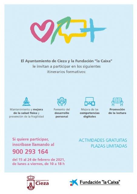 El Ayuntamiento de Cieza, en convenio con la Fundación la Caixa impulsa talleres virtuales para las personas mayores - 1, Foto 1