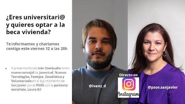 El PSOE de San Javier presenta con un directo en Instagram a Iván Zambudio, que sustituirá a Antonio García como concejal - 1, Foto 1
